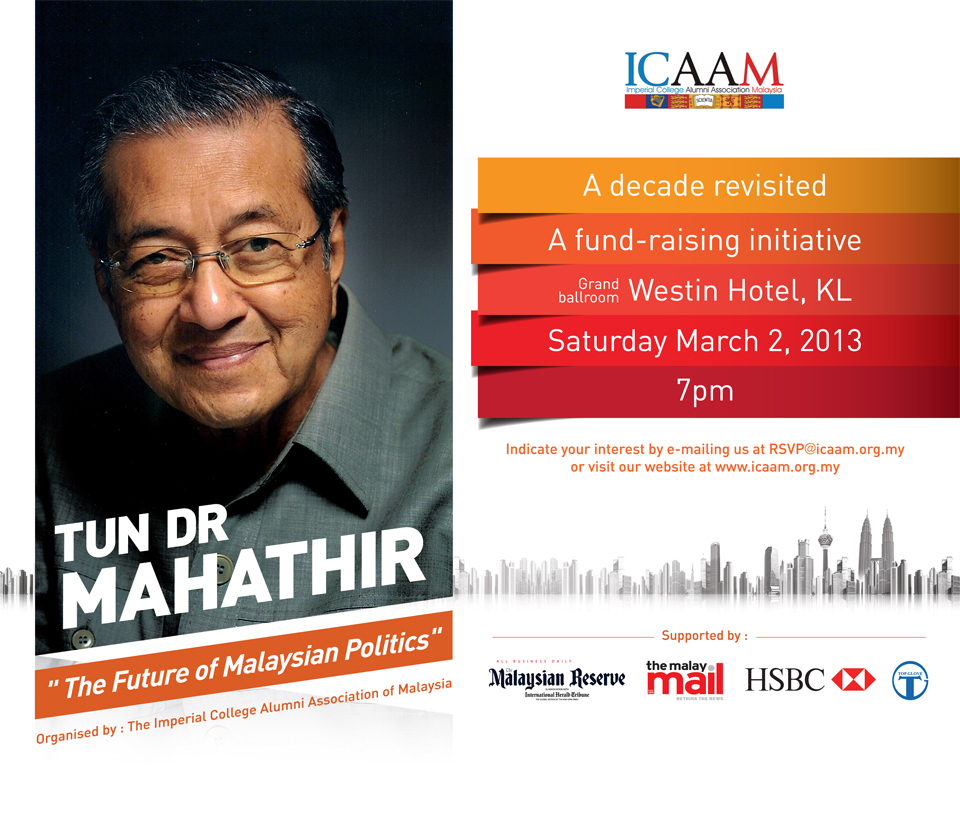 ICAAM-TUN DR MAHATHIR - The Future of Malaysian Politics - TMR-2